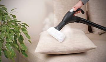 Чистка диванов и подушек паропылесосом Polti Vaporetto Lecoaspira FAV20