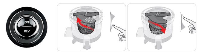 Функция ревеса у соковыжималки Hurom